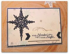 Star of Light in Navy and Vanilla for this weeks What Will You Stamp Challenge - join us & play along! #WWYS92 #stampinup #stampalatte #staroflight #christmas #holidaycatalogue #navyvanilla #leonieschroder #challenge