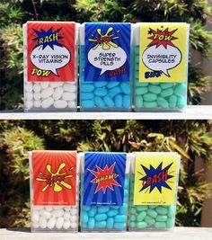 Superpower pills for Superheroes - tic tac labels