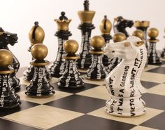 Purling London's latest Art Chess set celebrates another art form…the written word