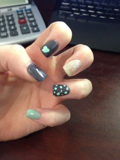 Grey and Mint Green! Love Love!