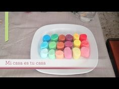 DIY Cómo pintar bombones o malvaviscos - paint marshmallows - YouTube