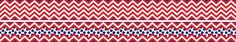 Chevron - Red Double-Sided Trim - Barker Creek