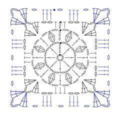 square crochet motif diagram