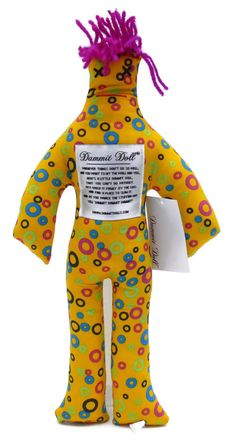 Dammit Dolls - Circles Yellow Print  - $14.99