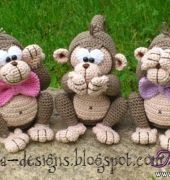 Scimmie di mala disegni tedesco