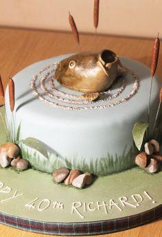 Fisherman's cake Fisherman Cake, Handmade Chocolates, Novelty Cakes, Cakes For Boys, Let Them Eat Cake, Cake Ideas, Cake Decorating, Wedding Cakes, Fishing