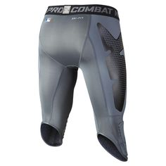 "Nike Store. Nike Pro Combat Hyperstrong Compression Diamond Thief Slider 17"" Men's Baseball Shorts"