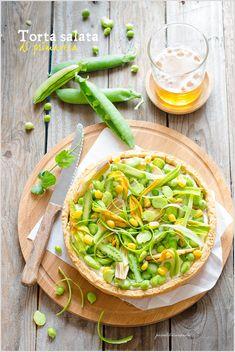 Torta salata con ricotta e verdure fresche di primavera – Ricotta and fresh spring veggies tart