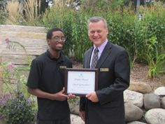 """We are sending a """"Congratulations!"""" to Jacob Gonzalves on his People Pleaser of the Month award for August 2015. Jacob has worked at Heidel House Resort & Spa since June of 2014."""