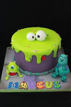 Monsters Inc. cake by Andrea's SweetCakes, via Flickr
