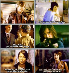 "Jody Mills GIFset. Haha, I just watched the ""Kiss my ass, Dr. Monster Face"" episode"