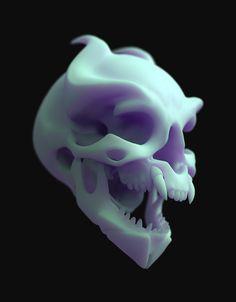 ArtStation - Alien skull, Laura Peltomäki