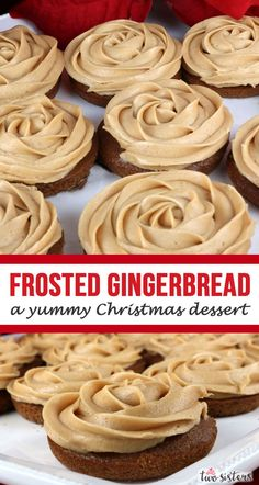Gingerbread Mini Cakes - wow your guests with a unique take on cupcakes featuring homemade Gingerbread Cake and Gingerbread frosting. Christmas Dinner For A Crowd, Christmas Desserts Easy, Christmas Cake Pops, Christmas Treats, Christmas Baking, Christmas Parties, Christmas Recipes, Christmas Turkey, Christmas Foods