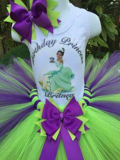 Hand made Princess Tiana inspired tutu set Girls by Partyadvantage