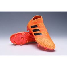 half off 76349 649ed Adidas Nemeziz 18+ FG Mens Football Boots - Zest Core Black Solar Red