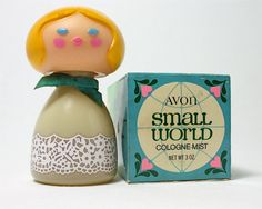 Avon cologne bottle, super sweet and groovy! I had one! Mine had black hair.