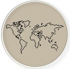 INSTANT DOWNLOADFree shippingCounted Cross-Stitch PDFworld