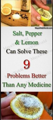 A lot of people use salt, black pepper, and lemons on a daily basis to prepare different meals. But, what many of you may not know is that these three ingredients have very powerful medicinal properties. If you still have doubts, check the list below.