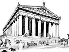 The Parthenon temple to Athena Athens (lesson Parthenon Architecture, Greece Architecture, Architecture Antique, Art And Architecture, Amazing Architecture, Ancient Greek Buildings, Ancient Greek Architecture, Religious Architecture, Greece Drawing
