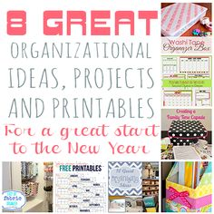 8 Great Organizational Ideas, Projects and Printables - The Bold Abode