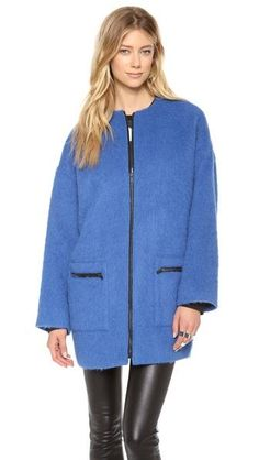 MSGM Mohair coat (more oversized coats here http://chicityfashion.com/size-matters/)