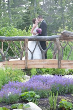 Coastal Maine Botanical Gardens for the ceremony and reception. LOVE it there!  Photo provided by Andrea Webster