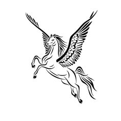 Awesome Black And White Tribal Pegasus Tattoo Stencil Pegasus Tattoo, Horse Drawings, Realistic Drawings, Tribal Tattoo Designs, Tribal Tattoos, Tatoos, Tattoo Fe, Brides With Tattoos, Black Background Images