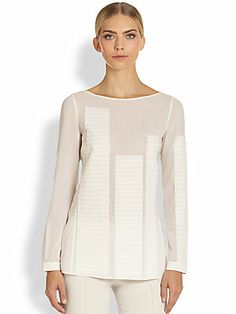 Akris Wool Crepe Georgette Tunic