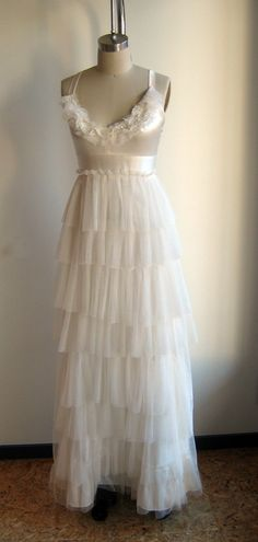 Pearl Tulle and Silk