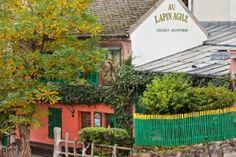 Au Lapin Agile historic cabaret along rue des Saules in Montmartre.