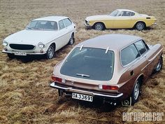 Volvo P1800: Yep, you can get a car that looks a lot like a Ferrari 250 for almost nothing (In Comparison). The big question is: Do you go for the stunning lines and fins of the coupe, or the radically 70s retro chic full glass door of the hatchback? or... just get 'em both!!!