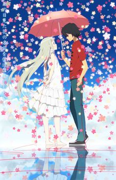 One anime I decided to watch on a whim when scrolling through Crunchyroll was Anohana: The Flower We Saw That Day. The cover looked enticing enough and a story being told in eleven episodes was app. Anime Girl Cute, Cute Anime Couples, I Love Anime, Me Me Me Anime, Manga Anime, Art Manga, Otaku, Anohana Anime, Desu Desu