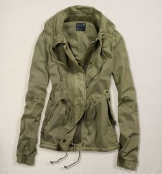 Celebrities who wear, use, or own American Eagle Green Anorak Jacket. Also discover the movies, TV shows, and events associated with American Eagle Green Anorak Jacket. Fall Outfits, Casual Outfits, Cute Outfits, Look Fashion, Street Fashion, Womens Fashion, Anorak Jacket Green, Olive Jacket, Hijab Style