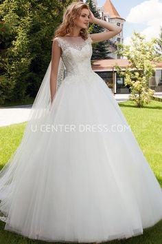 $137.59-Elegant Sleeveless Bateau Long Tulle Ball Gown Wedding Dress With Illusion Back and Court Train. http://www.ucenterdress.com/ball-gown-sleeveless-appliqued-bateau-maxi-tulle-wedding-dress-with-illusion-back-and-court-train-pMK_700179.html. Shop for Best wedding dresses, Lace wedding dress, modest wedding dress, strapless wedding dress, backless wedding dress, wedding dress with sleeves, mermaid wedding dress, plus size wedding dress, We have great 2016 fall Wedding Dresses on sale…