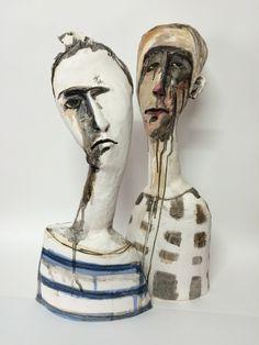 Ceramic sculpture - veronica cay 60 cm h Slip, engobe stain underglaze encaustic