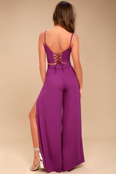 Out Tonight Magenta Two-Piece Jumpsuit 3