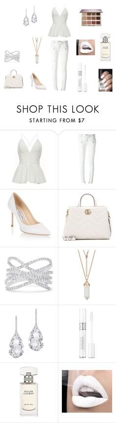 """""""White Day"""" by basher-977 ❤ liked on Polyvore featuring Balmain, Jimmy Choo, Gucci, Effy Jewelry, Plukka, Christian Dior, Ralph Lauren, tarte and polyvorecontest"""