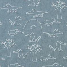 green-grey with fox tree organic fabric by Copenhagen Print Factory - Kawaii Fabric Shop Modes4u, Textiles, Kawaii Shop, Fabric Shop, Copenhagen, Fabric Patterns, Green And Grey, Organic Cotton, Scrappy Quilts