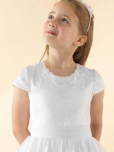 LWCD38 Communion Dress Holy Communion Dresses, First Holy Communion, Bodice, Neckline, Little White, Cap Sleeves, Tulle, Flower Girl Dresses, Delicate
