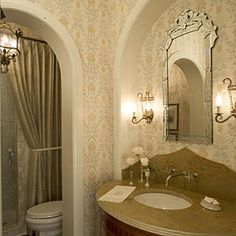 Comfortable Guest Baths  Indulge your guests with thoughtful details and stylish accents. Put Out Fresh Flowers   Welcome guests by placing a few cut flowers on the vanity.