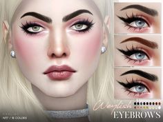 Weylish Eyebrows N117 by Pralinesims at TSR • Sims 4 Updates