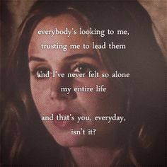 I was so relieved when somebody finally understood what Buffy goes through. Her inferiority complex about her superiority complex. Something we knew and felt for 7 years. How alone Buffy feels all the time, even with the people she's closest to. Faith