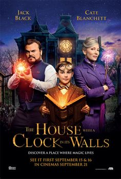 New Poster for Eli Roth's Comedy-Mystery 'The House with a Clock in Its Walls' - Starring Jack Black Cate Blanchett Kyle MacLachlan and Owen Vaccaro New Movies 2018, Movies Online, Series Movies, Film Movie, Comedy Film, Coco Film, Movies Showing, Movies And Tv Shows, Night Film
