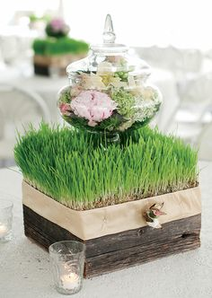 How pretty is this? ~ 25 Stunning Wedding Centerpieces - Part 8