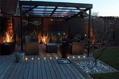 No overhang on the pergola