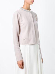 Fabiana Filippi embellished collar cardigan