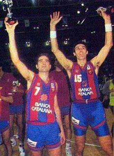 Nacho Solozabal y Epi. Que monstruos del baloncesto!