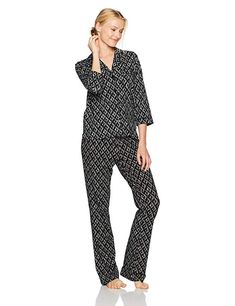 c19d0e811e Mae Women s Sleeve Notch Collar Pajama Set