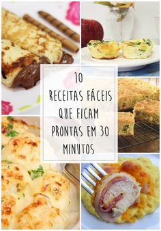 Já aconteceu com você de chegar em casa e não ter a mínima ideia do que fazer para comer? Nesse post te mostro 10 receitas fáceis!