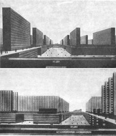 The Vertical City sketches, Ludwig Hilberseimer